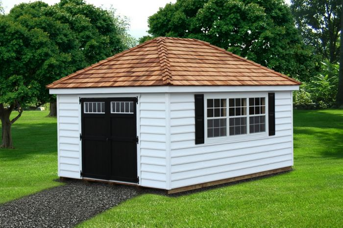 Lapp Structures Hip Roof Quality Amish Built Poolhouse