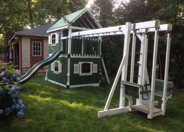 Amish Custom Built Swingset Swingsets Playhouse Playgrounds
