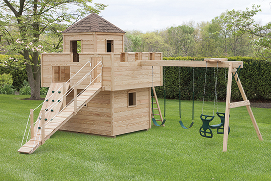 Pressure Treated Wood Outdoor Dream Fort Playset