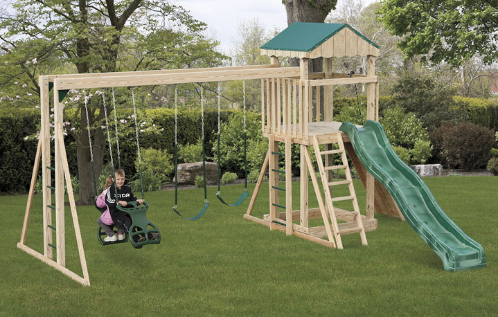 Backyard Playstation 703 Amish Built Playground Swingsets