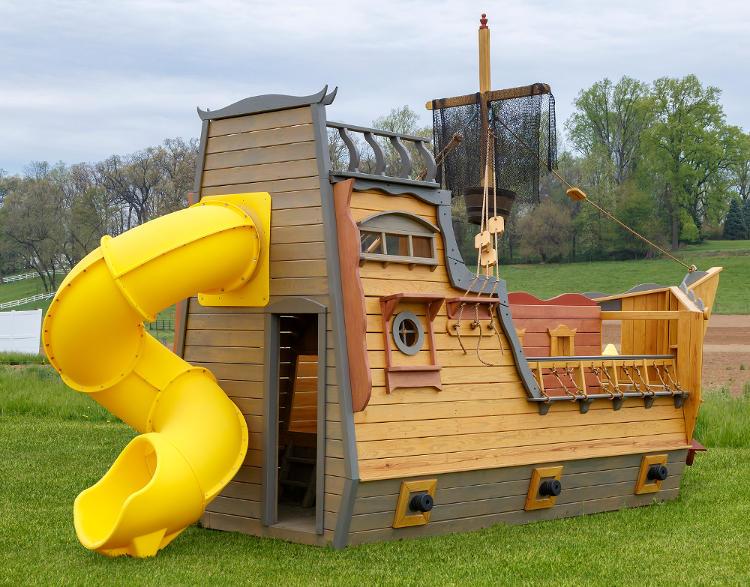 Pirate Ship Swingset